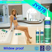 JY978high quality silicone sealant, mold & mildew clear silcone sealant for household, empty silicone cartridge