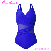 Popular Royal Blue One Piece Korean Hot Hot Sexi Girls Bikini Model Sexi Swimsuits