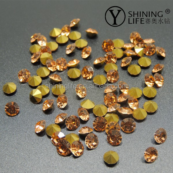 1440pcs mixed color and Size Point back Rhinestone for clothes