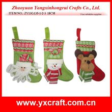 Christmas sock (ZY13G135-1-2-3 18CM) santa stocking trendy christmas gift item