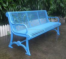 Cast iron park bench metal outdoor park bench
