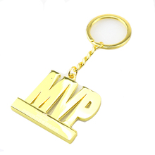 Wholesale Oem 3D Letters Number Word Logo Custom Metal Keychains With Ring For Promotion And Gifts
