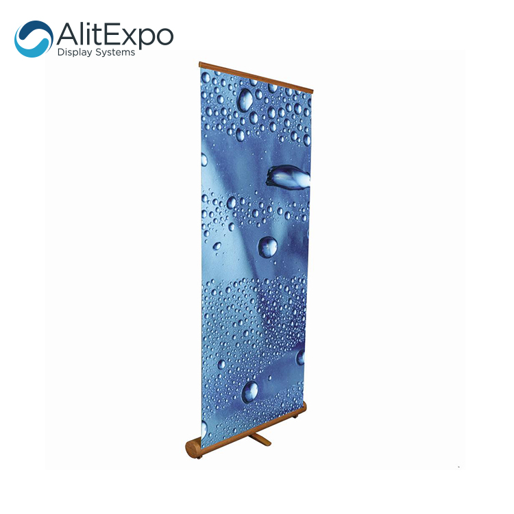 Custom printing cheap portable advertising aluminum roll up banner pull out banners
