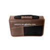 Faux Leather CD And DVD Holder Case 120 CDs, Vintage Style, Brown