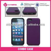 personalized color case for iphone 5C PC+Silicone case