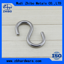 High Polished AISI304 AISI316 Stainless Steel Stamped Small Metal S Hooks