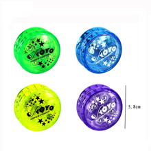 Customize colorful profesyonel plastic <strong>yoyo</strong> toys build-in twin-clutch <strong>yoyo</strong> with light