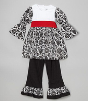 2014 girls clothing sets New cotton children outfit set fashion kids clothing set