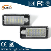 DC12-30V number plate light one year warranty canbus led license plate light for A udi