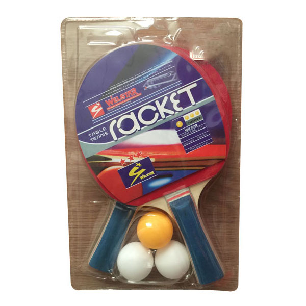 Promotional Desktop Double-sided Poplar Wooden Ping pong Table Tennis Racket Set