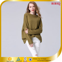 Women Pullover Slim Fit Mid Long Knitted Sweater Wholesale