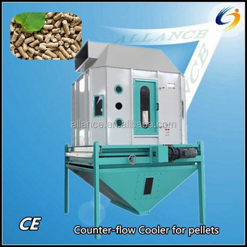 latest octagonal design counter-flow pellet cooler for wood pellet making plant