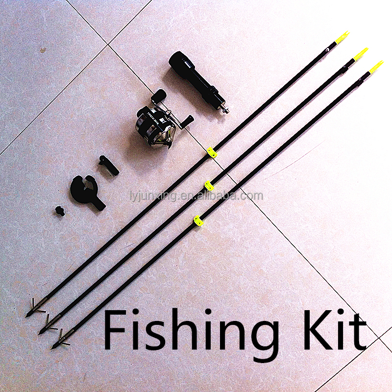 Bow fishing kit fishing reel with arrow total fishing kit for Crossbow fishing reel