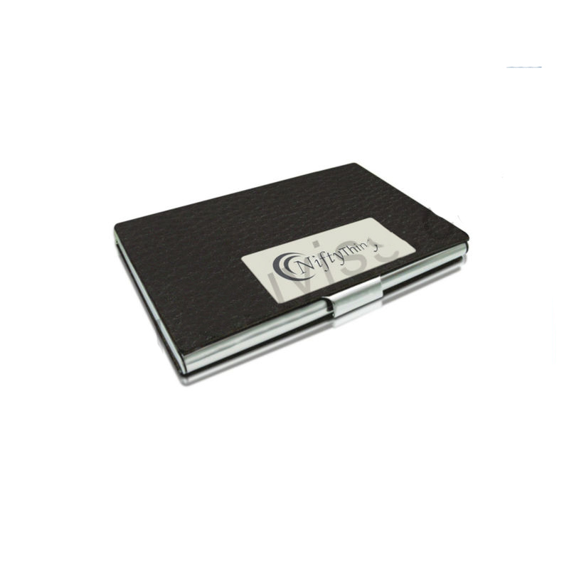 Luxury Black Business Card Holder Leather Novelty Card Cover For