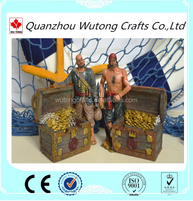 Custom logo business gifts for nautical prison captain resin figurine
