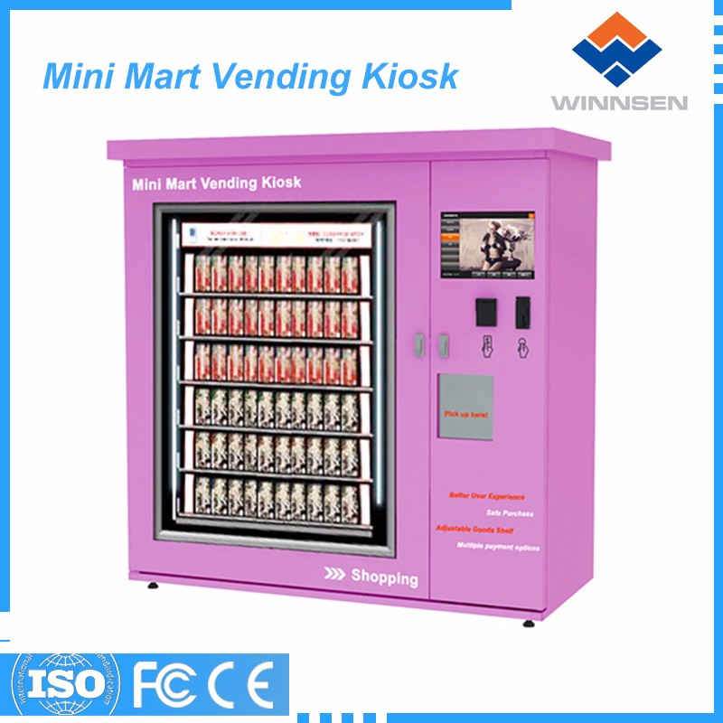 Wifi remote control function goods vending machine coin-operated