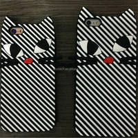 Best selling cheap zebra stripes cat silicone mobile phone case for iphone 7 7plus case