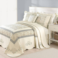 wholesale fitted embroidery design bedspread