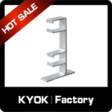 KYOK 16/19mm remote control high quality curtain track brackets,0.5mm aluminum metal double iron curtain rod brackets