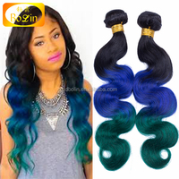Alibaba Express Hair Products Top Grade Real Virgin Brazilian Ombre Hair Weaves