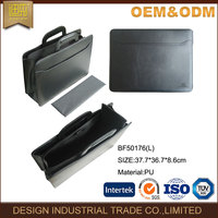 2016 high quality Pu men office briefcase most popular bag manufacture men leather briefcase
