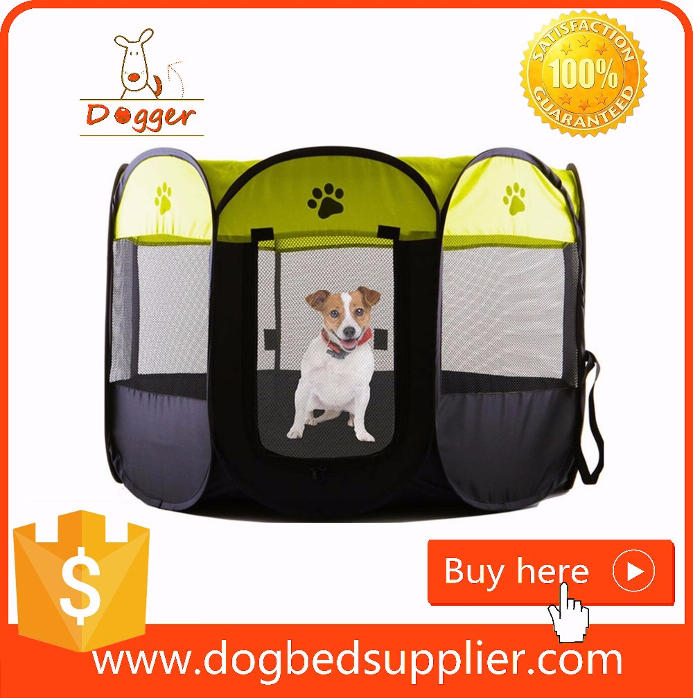 Portable Oxford Fabric Outdoor Pet / Dog Playpens With 8 Panels Wholesale