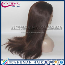 Qingdao wig supplier top quality natural looking natural scalp wig virgin Brazilian hair silk top wig