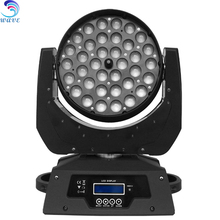 aura 36pcs rgbw wash zoom light led moving head