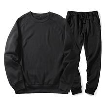 Wholesale Custom Chic Casual Men's <strong>Sports</strong> Tops Sweatshirt+Pants Plain Track&amp;Sweat Suits 2Pcs Tracksuit