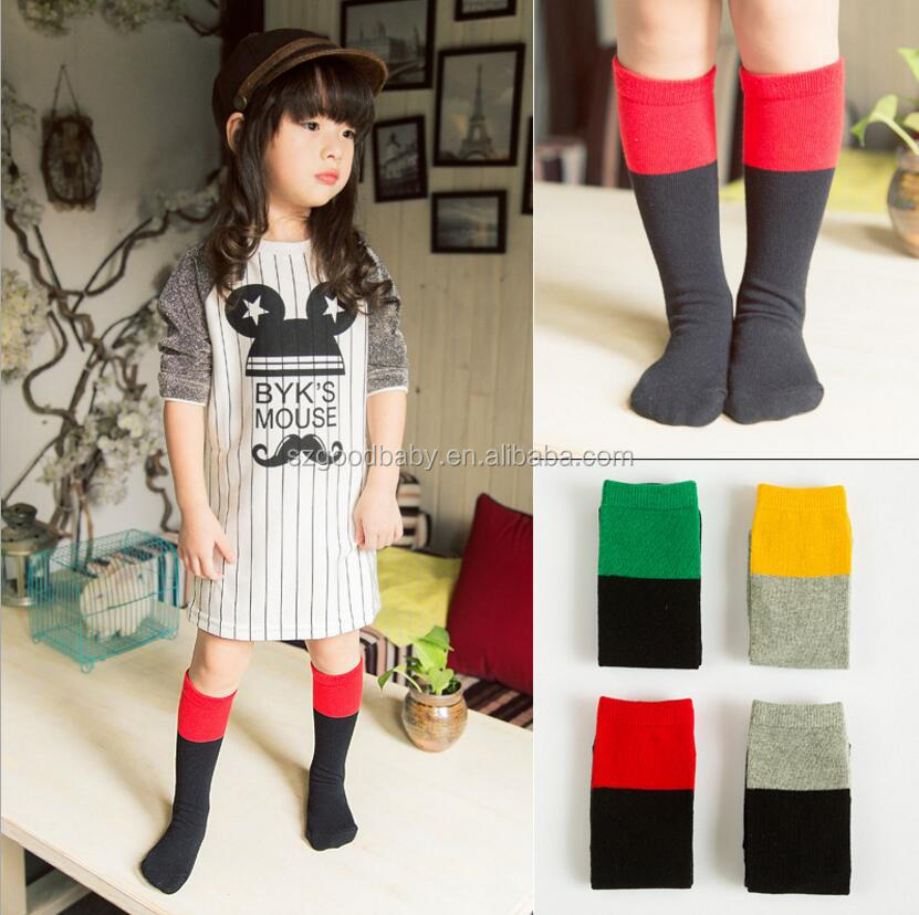 Red and Black knee high baby child soft cotton socks