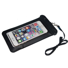 black underwater waterproof phone case with strap for iphone 8