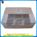 Recycle promotional cupcake box can be customized