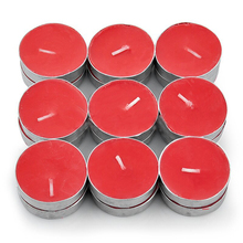 holiday time red color aluminum tealight cups 4 hours tealight candles
