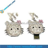 Cat jewelry usb flash memory drive