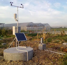 Greenhouse mini agricultural weather station for farmland monitoring