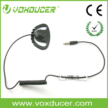 [DT26-3.5/2] Two way radio accessories 3.5mm plug listen only Earhook headset
