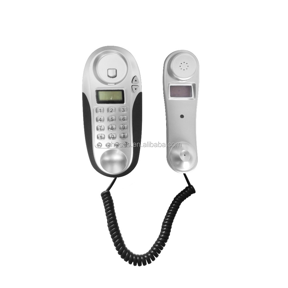 Shenzhen supplier factory price wall phone slim phone with cute shape corded telephone phone booth for sales