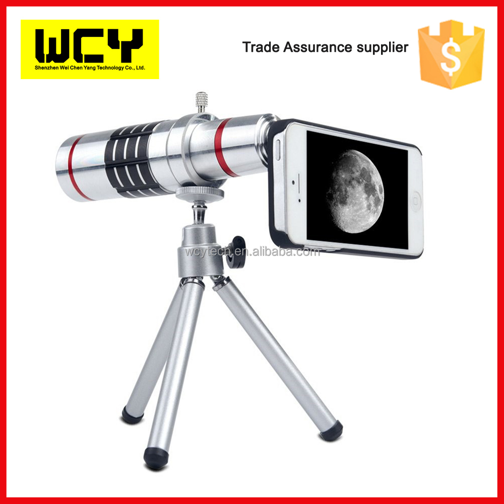 Wholesale universal clip 8X zoom clip telescopes mobile phone phone camera lens kit mobile phone lens for iphone for samsung