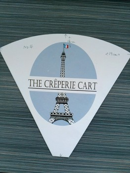 customized paper cone for crepe with logo making