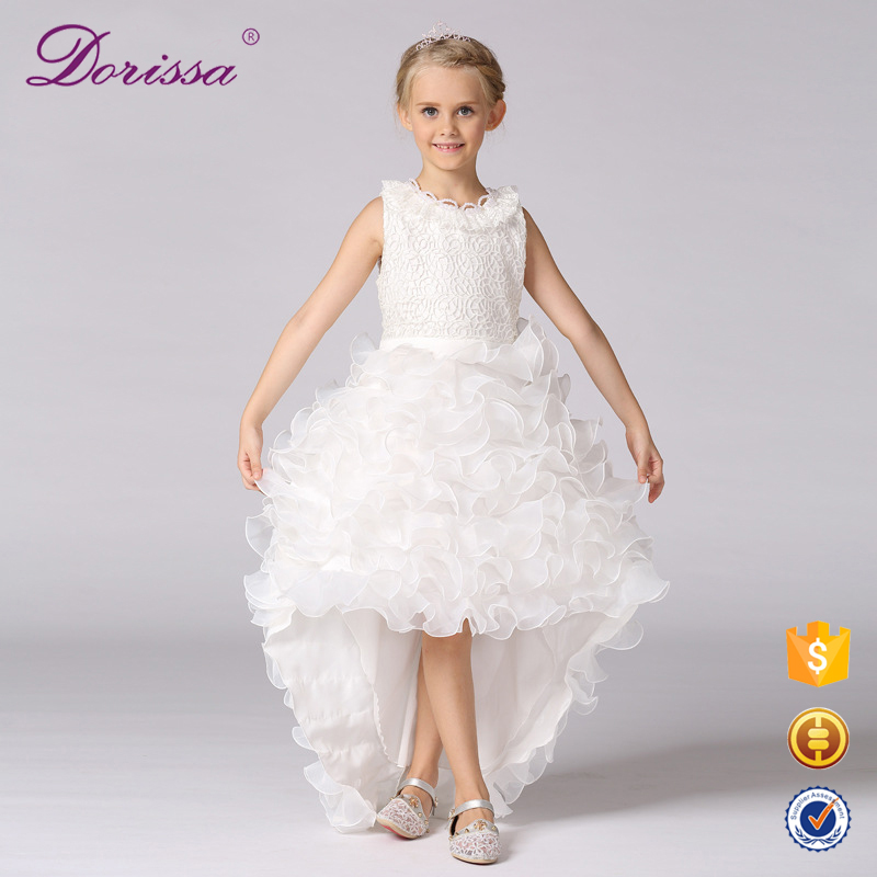 childrens' clothing hand smocked dresses white tulle flower girl dress embroidery sequin cord lace fabric