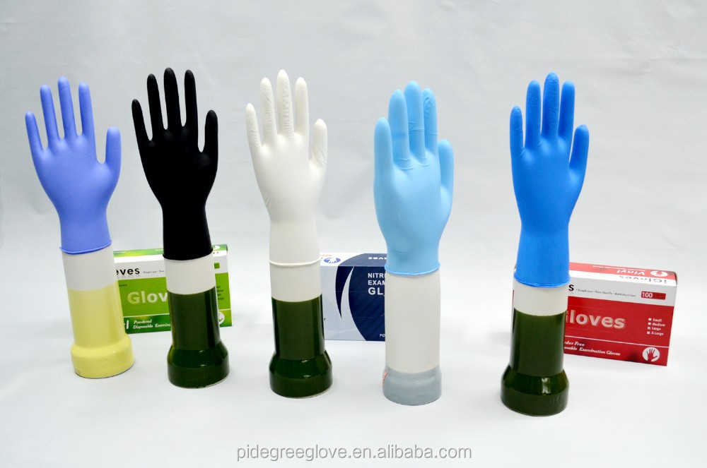 colored nitrile gloves/Nitrile Disposable Gloves Powder Free Non Latex Vinyl Exam Size: Small