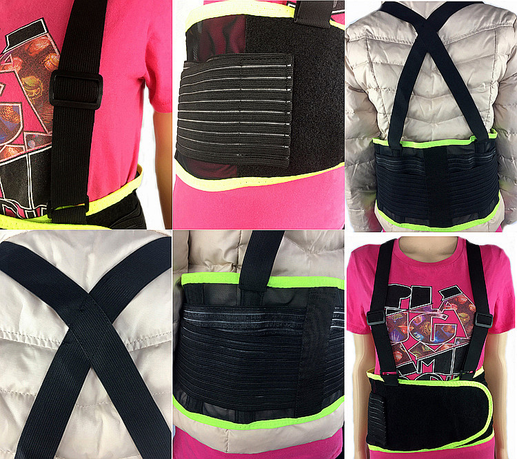 Unisex Economy Back Support Belt with Suspender and Lumbar Pad