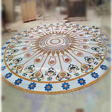 Inlay work Marble Table Top,Marble Water jet Medallion,Artificial marble table top