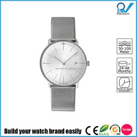 Made in Germany mark stainless steel case milanaise bracelet junghans style designed self winding movement mechanical watch
