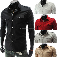 Wholesale walson Custom Mens Shirts Casual Slim Fit Stylish Mens Dress Shirts With Two Pocket apparel