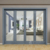 ROGENILAN 75 series aluminum accordion exterior glass folding door price