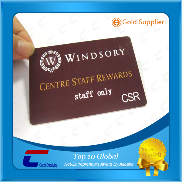 custom Shiny plastic loyalty card matte PVC lamination PVC magnetic 300OE membership card