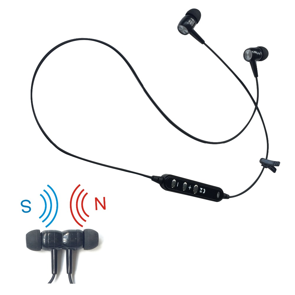 2016 new cheapest model bluetooth stereo magnet earbuds headset headphone for listening music and calling