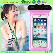 free sample universal mobile dry bag tpu carrying waterproof cell phone case for iphone 7 6s for samsung note