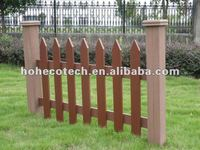 Good design wood look composite garden fence
